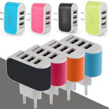 3.1A Wall Charging Adapter EU Plug For Samsung iPhone HTC Nokia LG All Other Phone with 3 USB Port