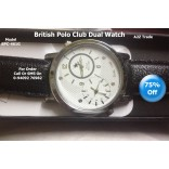 British Polo Club Dual Watch, For Ladies And Gent's -BPC-461 G,Mrp:3499 @ 77% Discount