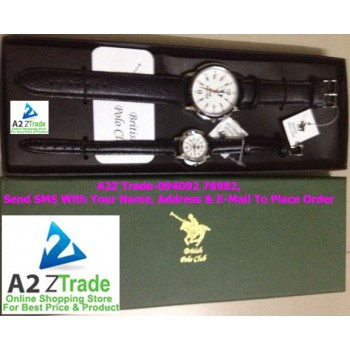 Pair Watch-British Polo Club, Gents & Ladies Watch- BPC-050 & 051,Imported, MRP Rs.4999