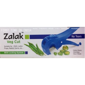 Zalak Vegetable Cutter,Zalak Veg Cutter, Works like Stapler, No More Tears, Ideal to Cut Carrot Radish Lady Finger Etc. On Discount