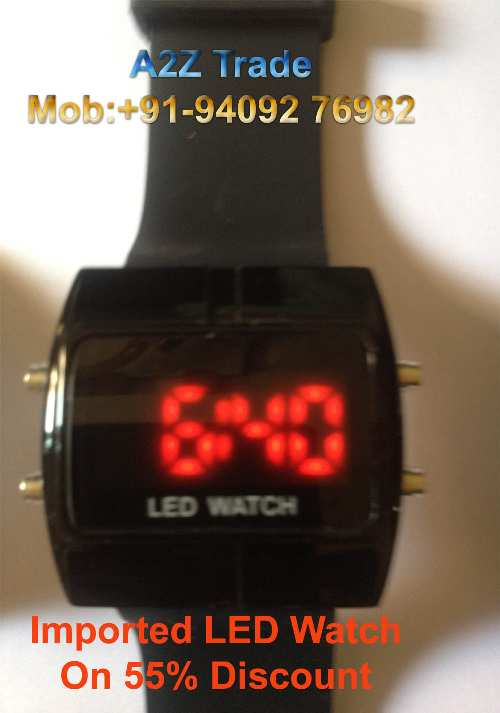 Black Dial Red Led Watch Imported For Kid S Men S On